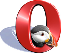 The Opera mascot: The Puffin.