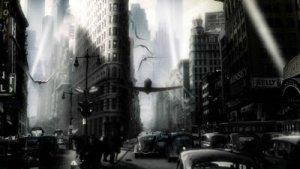 Eine Szene aus 'Sky Captain' von 2004
