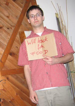 Will hack for food